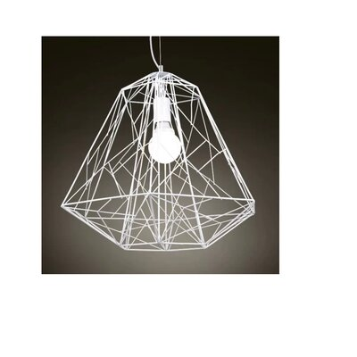 Greco 1-Light Geometric Pendant Finish: White