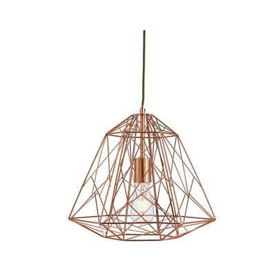 Richards 1-Light Geomatric Pendant Finish: Bronze
