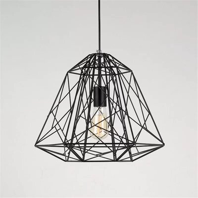 Richards 1-Light Geomatric Pendant Finish: Black