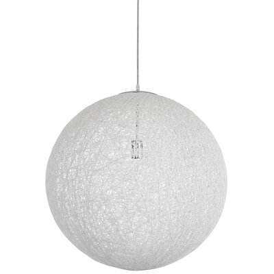 Isaias 1-Light Globe Pendant Finish: White