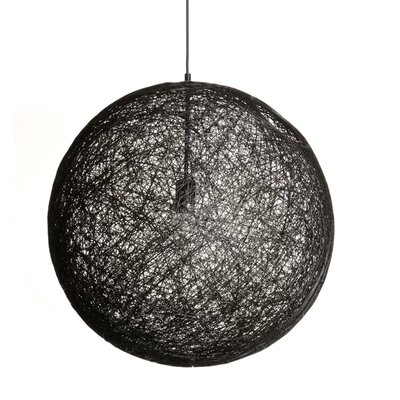 Isaias 1-Light Globe Pendant Finish: Black