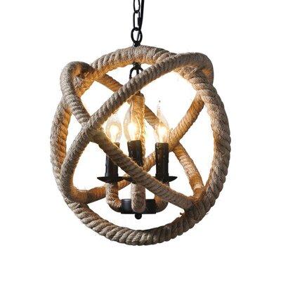 Salma Vintage 4-Light Globe Pendant