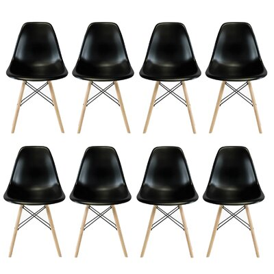 Allston Solid Wood Dining Chair Color: Black