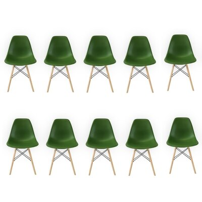 Allston Solid Wood Dining Chair Color: Dark Green