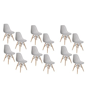 Allston Solid Wood Dining Chair Color: Light Gray