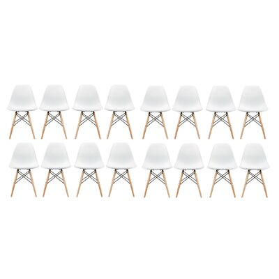 Allston Solid Wood Dining Chair Color: White