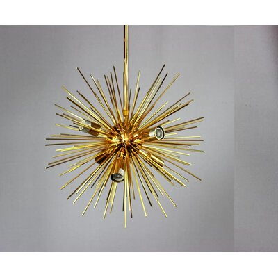 Knowsley Urchin 6-Light Sputnik Chandelier Finish: Gold