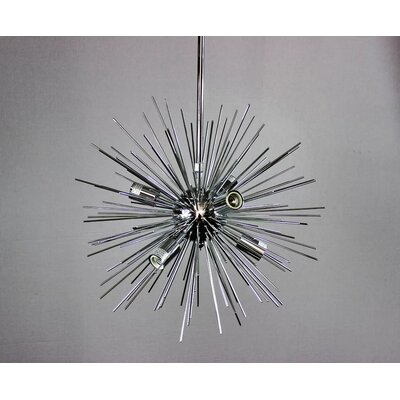 Knowsley Urchin 6-Light Sputnik Chandelier Finish: Chrome