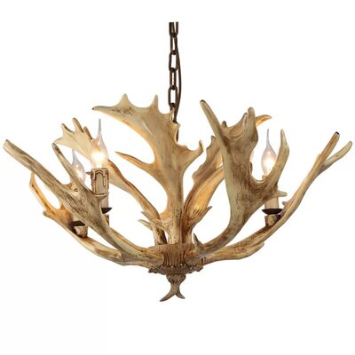 Pekanbaru Faux Antler 5-Light Candle-Style Chandelier