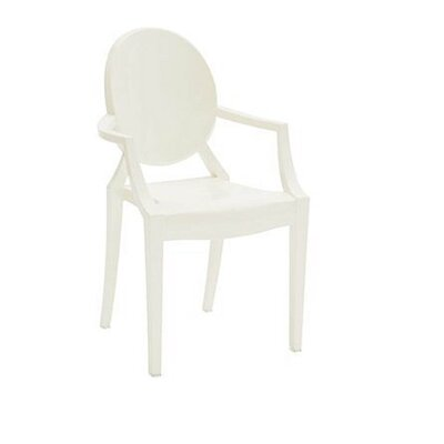 Kyra Dining Chair Color: White