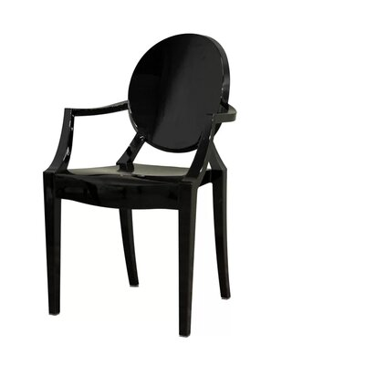 Kyra Dining Chair Color: Black