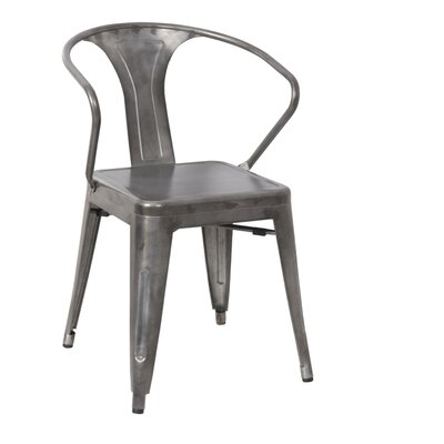 Coutu Dining Chair Color: Gunmetal