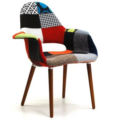 Mckellar Patchwork Arm Upholstered Dining Chair
