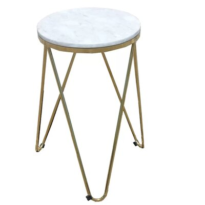 Keane Faux Marble End Table