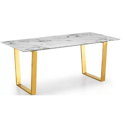 Bristow Dining Table Color: Gold