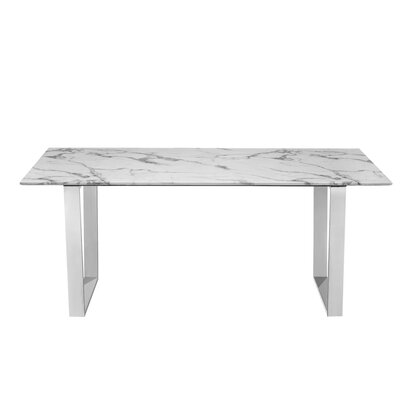 Bristow Dining Table Color: Chrome