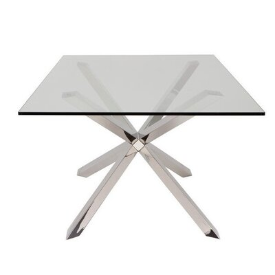 Brisbane Dining Table Color: Chrome
