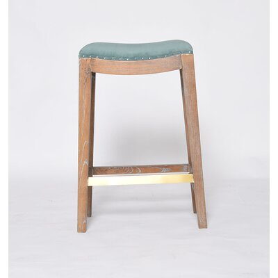 Probst Peacock Fabric Bar Stool