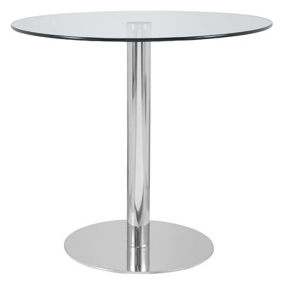 Hollowell Clear Round Kitchen Dining Table Size: 29 H x 39 W