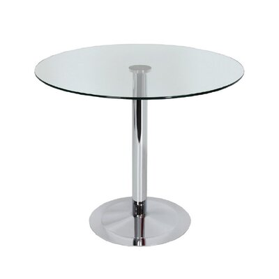 Hollowell Clear Round Kitchen Dining Table Size: 29 H x 36 W