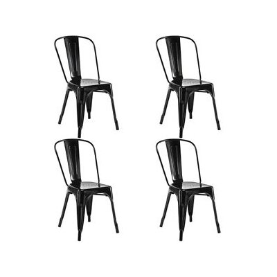 Ferraro Dining Chair Color: Black