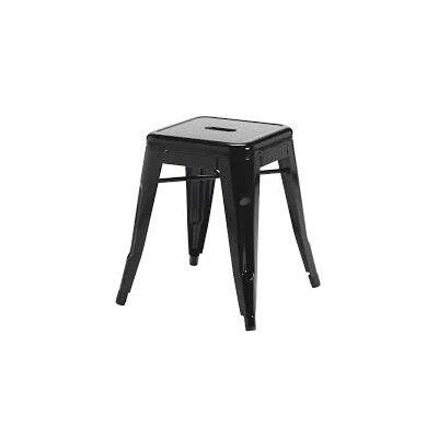 Ferraro Mini Metal 17 Bar Stool Color: Black