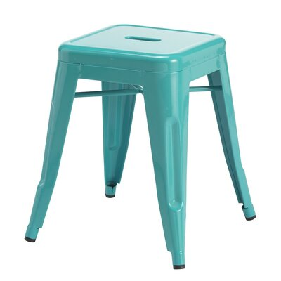 Ferraro Mini Metal 17 Bar Stool Color: Blue