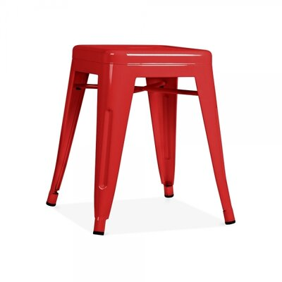 Ferraro Mini Metal 17 Bar Stool Color: Red