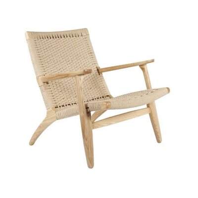 Ciccone Modern Solid Wood Armchair Finish: Natural