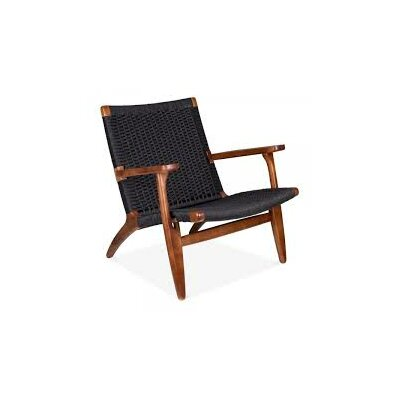 Ciccone Modern Solid Wood Armchair Finish: Black