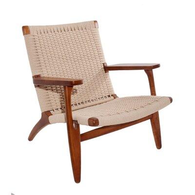 Ciccone Modern Solid Wood Armchair Finish: Walnut
