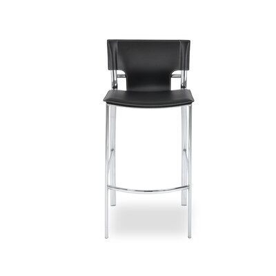 Gardiner 25.5 Bar Stool Upholstery: Black