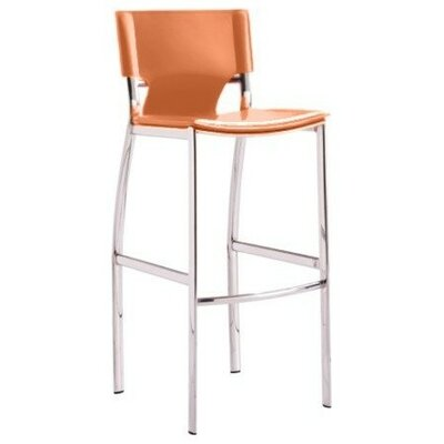 Gardiner 25.5 Bar Stool Upholstery: Tan