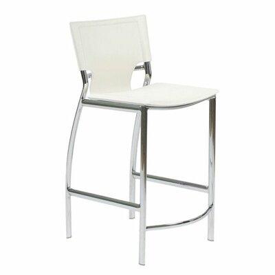 Gardiner 25.5 Bar Stool Upholstery: White