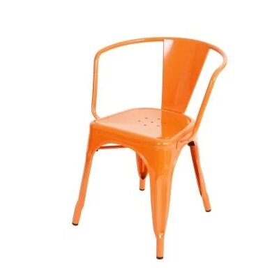 Coutu Dining Chair Color: Orange