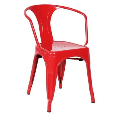 Coutu Dining Chair Color: Red