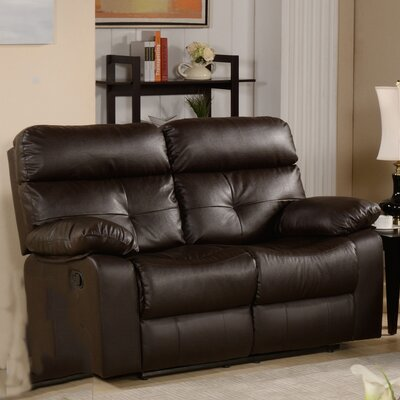 Roquette Leather Reclining Loveseat