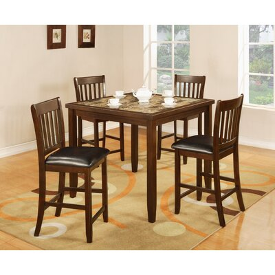 Mcmullin 5 Piece Counter Height Dining Set