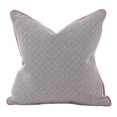 Beach Club Throw Pillow Color: Rhubarb, Size: 20 x 20