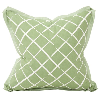 Cove End Down Insert Throw Pillow Color: Palm, Size: 24 x 24