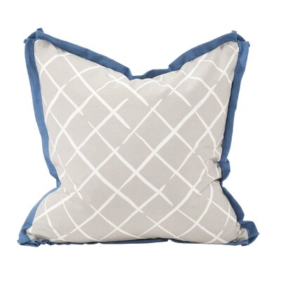 Cove End Throw Pillow Color: Ocean, Size: 20 x 20