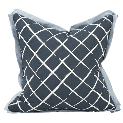 Cove End Down Insert Throw Pillow Color: Indigo, Size: 24 x 24