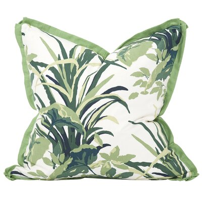 Bermuda Bay Throw Pillow Color: Daffodil, Size: 24 x 24