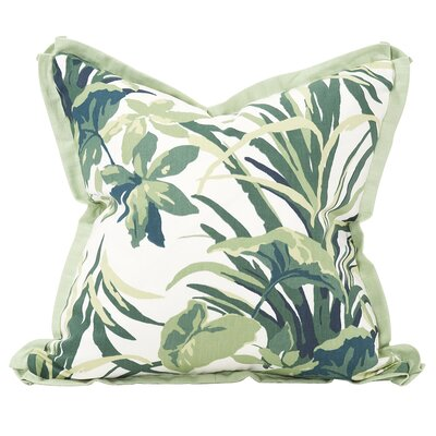 Bermuda Bay Down Insert Throw Pillow Color: Palm, Size: 24 x 24