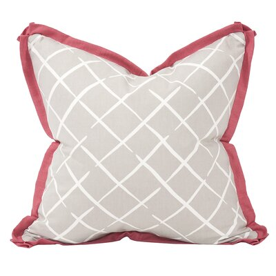 Cove End Down Insert Throw Pillow Color: Summer, Size: 24 x 24