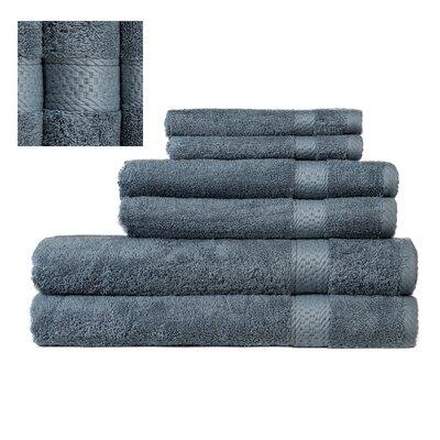 Myona 6 Piece Towel Set Color: Dark Blue