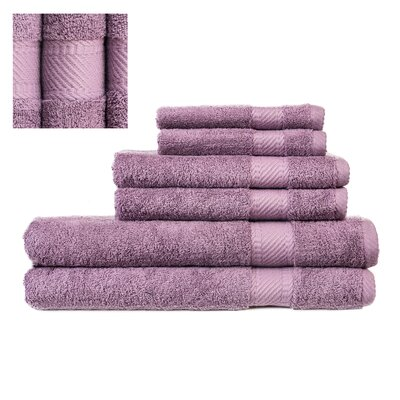 Myles Luxury 6 Piece Towel set Color: Purple