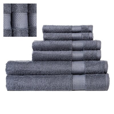 Myles Luxury 6 Piece Towel set Color: Dark Green