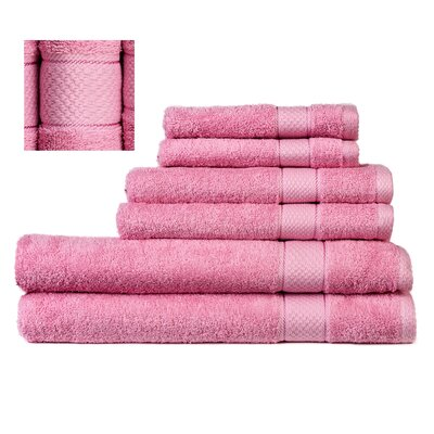 Myona 6 Piece Towel Set Color: Pink