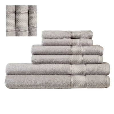 Myron Superior 6 Piece Towel Set Color: Gray